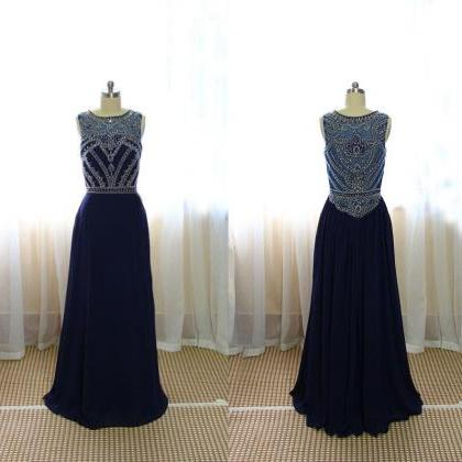custom simple graduation dressa line floorlength navy