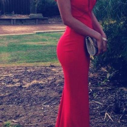 Hot Sale Prom Dresses,Red Mermaid ..