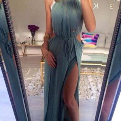 Charming Prom Dress,Halter Prom Dre..