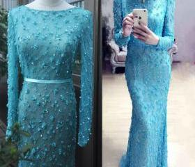 Long-Sleeves Prom Dr..