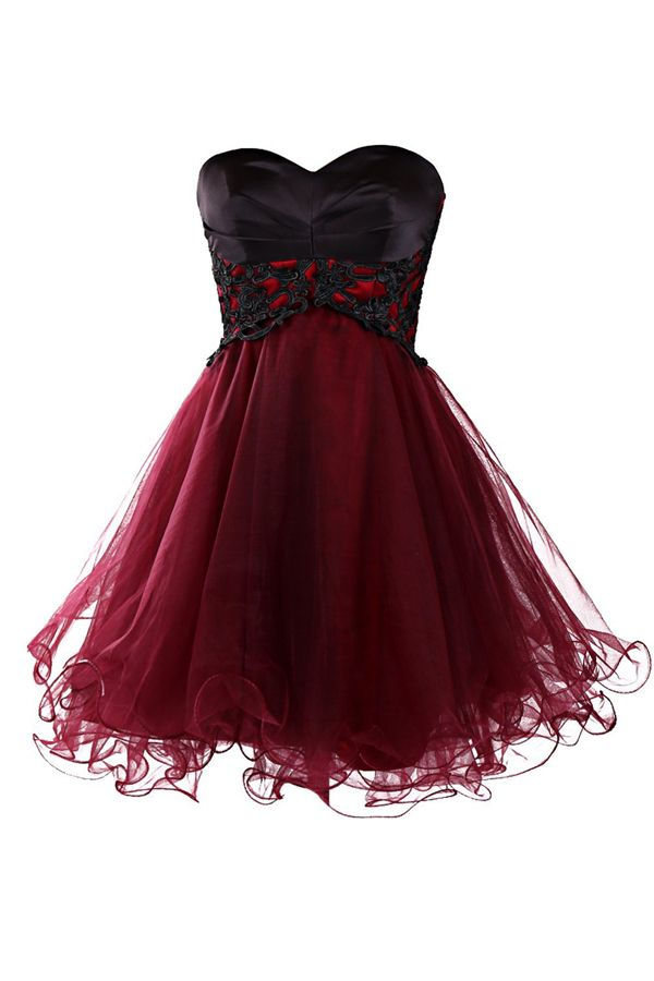 5e83bd0a245 Burgundy Homecoming Dress