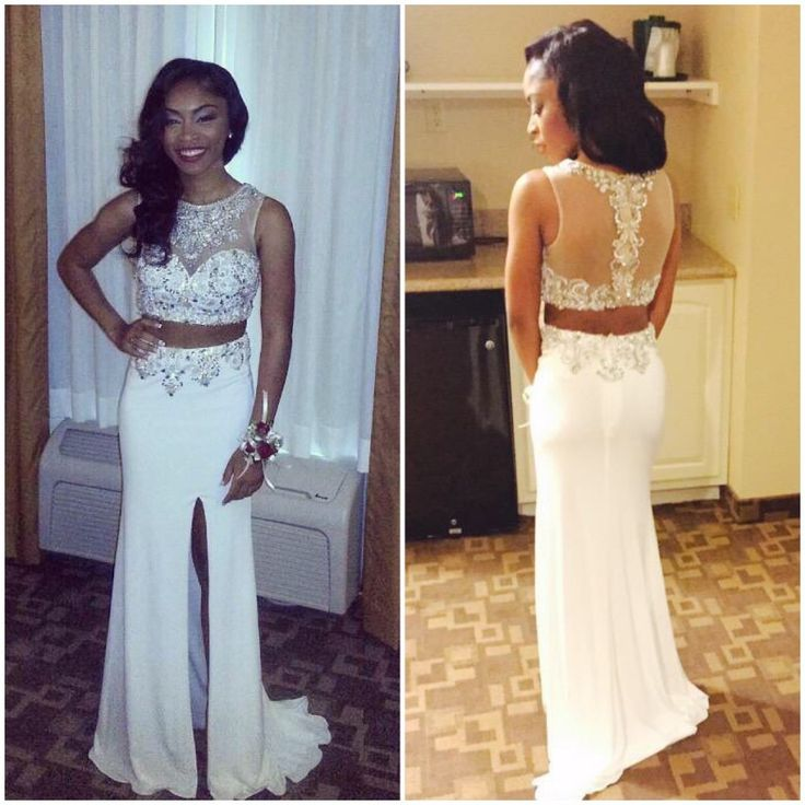 Two Pieces Charming Prom Dresses,The Elegant