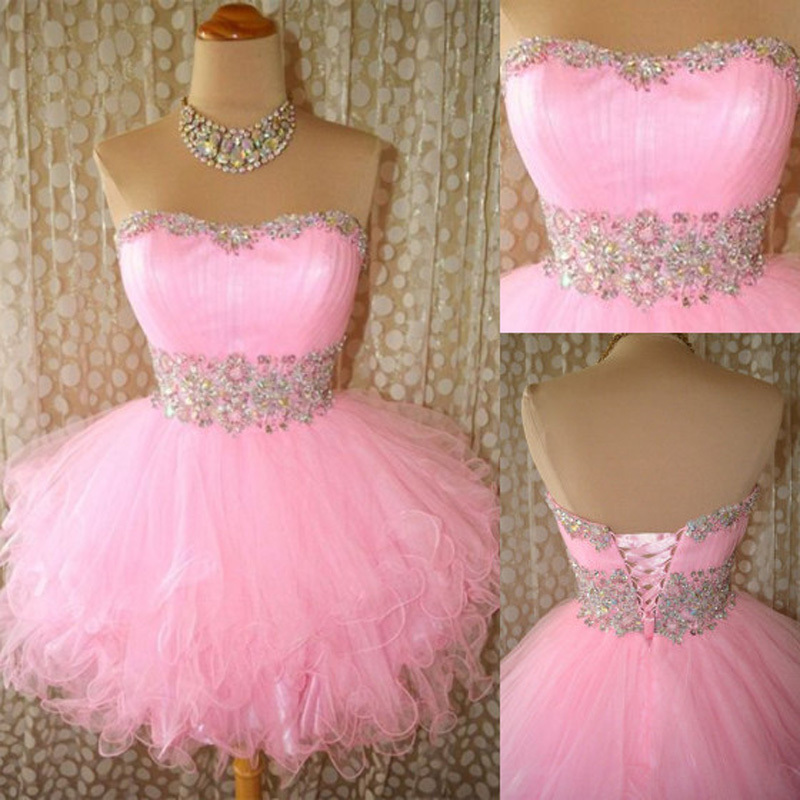 c2e941cf63 Sweetheart A-Line Strapless Mini Homecoming Dress