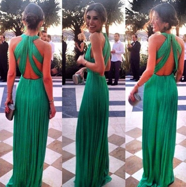 2015 New Style A Line Floor Length Long Evening Dressparty Dress