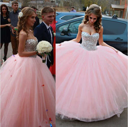 Custom Made High Quality Ball Gown Prom Dress With Beading,Sweetheart Wedding Dress,Bridal Dress,Dress 2015,Sexy Prom Gowns,Charming Prom Dress