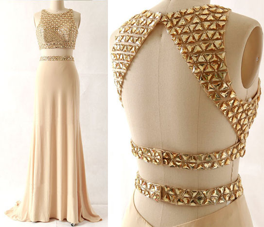 On Sale 2 Pieces Prom Dress,Mermaid Prom Dress,High Quality Prom Dress,Charming Prom Dress,Gorgeous Satin Prom Dress,Beading Prom Dress,Formal Dress,