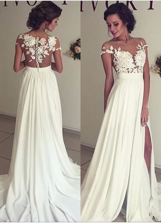 2c9535378aec 2016 Summer Beach Chiffon Wedding Dresses