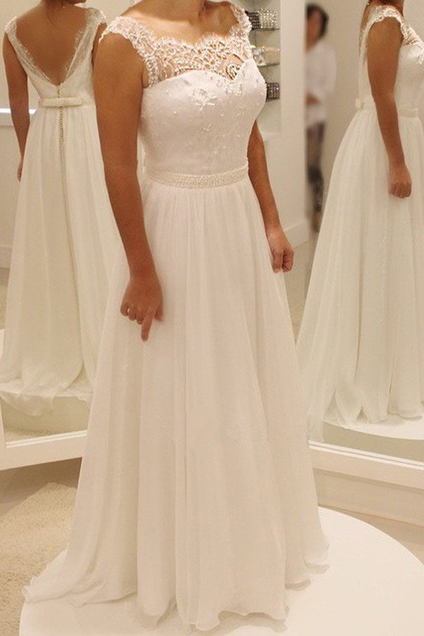 Simple A Line Backless Beach Wedding Dress Ball Gowns, 2017 Wedding ...