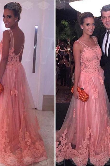 Elegant Prom Dress,Lace Prom Dress,Beautiful Prom Gowns,Party Dress,Lace Evening Dress,Tulle Prom Dress,New Fashion Prom Dress,