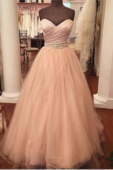2016 Custom Made Sweetheart Pink A Line Formal Prom Dress,Beading Evening Dress,Dress For Prom,Dress For Weddings,Party Dress,