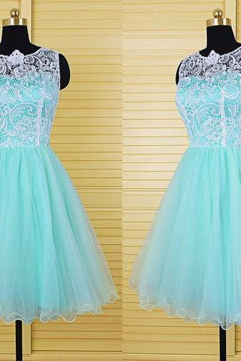 Hot Sale Homecoming Dresses,Charming Prom Dress,The Charming Homecoming Dresses,Lace Evening Dress,Organza Homecoming Dresses