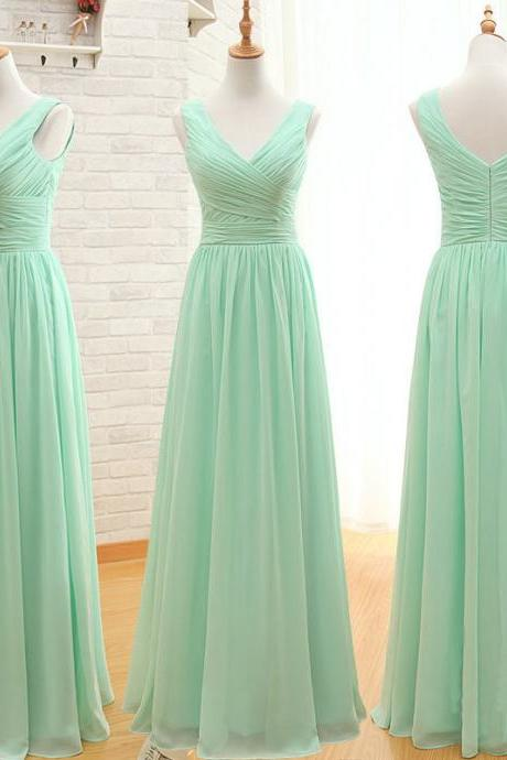High Quality Bridesmaid Dresses,Charming Bridesmaid Dresses,Chiffon Bridesmaid Dresses ,V-neck Bridesmaid Dresses,SimpleBridesmaid Dresses,Wedding Party Dress,Backless Formal Dress,