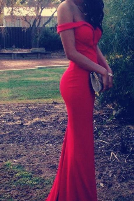 Hot Sale Prom Dresses,Red Mermaid Prom Dresses,Off the Should Prom Dresses,Sexy Red Prom Gowns,Sweetheart Chiffon Prom Dress,Red Evening Dress,Formal Dress,
