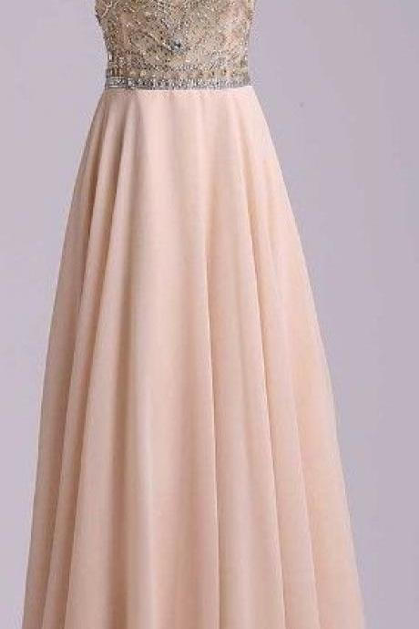 Charming Beading Long Prom Dress,Chiffon Prom Dress,Cap Sleeves Prom Dress,Formal Prom Dress,Long Prom Dress 2016,Sexy Backless Women Prom Dresses,A line Evening Dress,