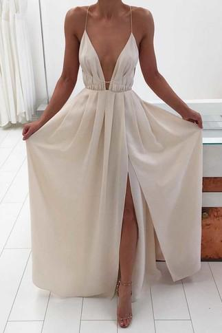 Simple A-line Backless Prom Dress for Teens, Sexy Evening Dress,Long Prom Dress,Prom Women Dress,