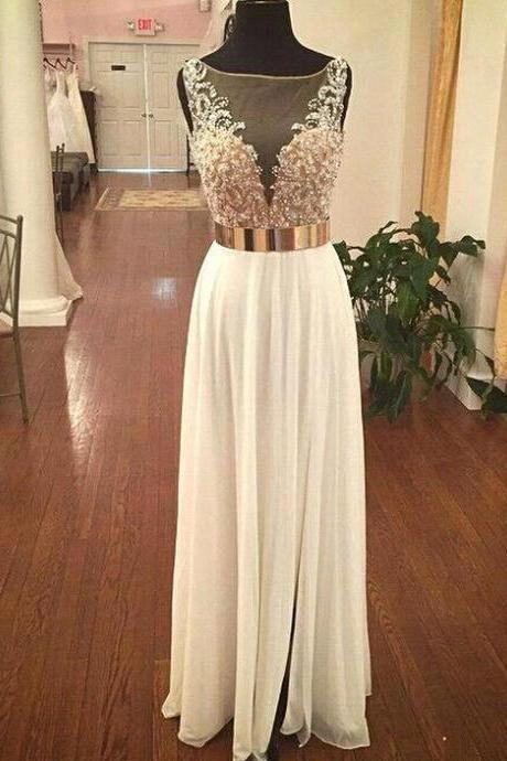 High Quality Custom Made Prom Dress,Beading Prom Dress With Gold ,A line Prom Dress With Gold ,Chiffon Prom Gowns,Sexy Party Dress,Backless Prom Dress,Eveing Dress 2016,