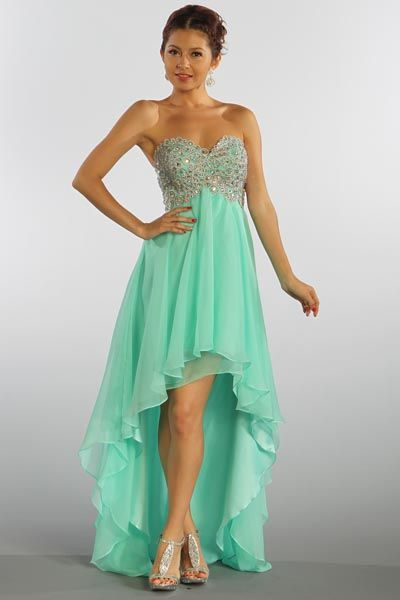 Charming Prom Dress,Beaded High Low Chiffon Prom Dress,High Low Homecoming Dress,Graduation Dress,Party Dress,High Low Evening Dress,Girl' Dress