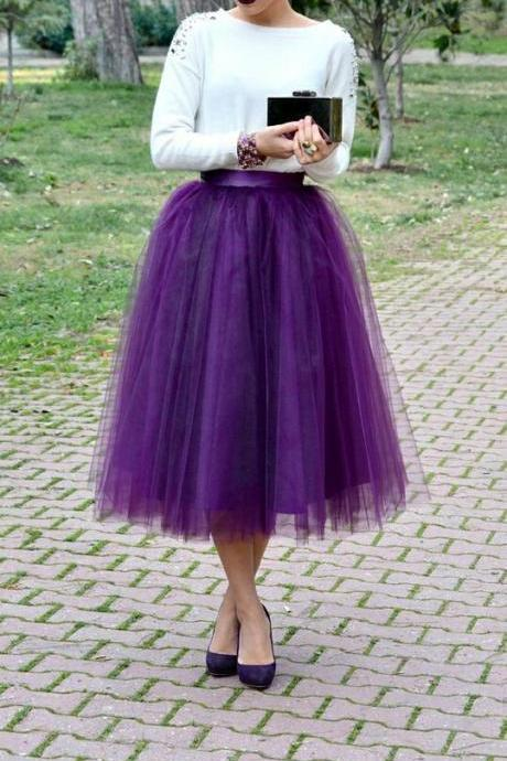 Women Skirt,Tulle Skirt,Spring/Autumn Skirt,Fashion Street Style Skirt,Homecoming Dress,