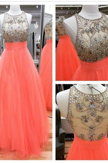 High Quality Prom Dress,Gorgeous Beaded Prom Dress,Tulle Prom Dress,A-Line Evening Dress,Modest Evening Gowns,Formal Dress,Prom Dress For Wedding or Events,Custom Made Prom Dress,Prom Dress 2016,