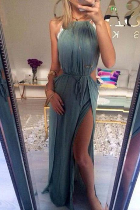 Charming Prom Dress,Halter Prom Dress,Chiffon Prom Dress,Beach Evening Dress,Sexy Prom Dress,Simple Prom Gowns,Cheap Eveing Formal Dress,Party Dress,Women Dress,