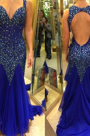 High Quality Prom Dress,Chiffon Prom Dress,Beading Prom Dress,Backless Prom Gowns,Prom Dress,Long Prom Party Dress,Special Occasion Dress,Formal Dress,A line Evening Dress,