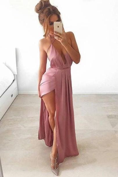 2017 Sexy Party Dess,Women Dress,Long Prom Dress,Chiffon Prom Gowns,Simple Evening Dress,Cheap Prom Eveing Party Dress,Custom Made Women Prom Dress,New Fashion Prom Dress