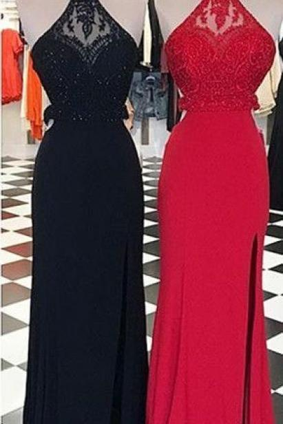 New Arrival Sexy Prom Dress,Sexy Backless Prom Dresses,Evening Dress,Long Prom Dress,Formal Women Dress,Party Dress,Sexy Backless Prom Dresses with Beaded,Sleeveless Prom Dresses,