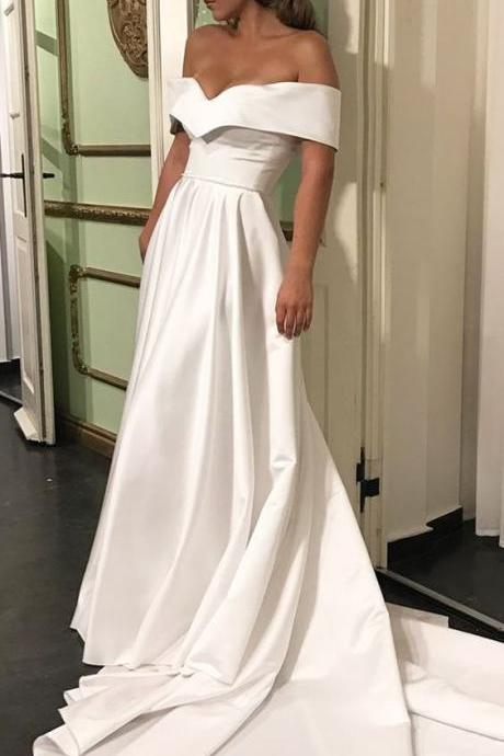 Romantic Off The Shoulder Wedding Dresses,Off The Shoulder Wedding Dresses, Wedding Dress 2017,