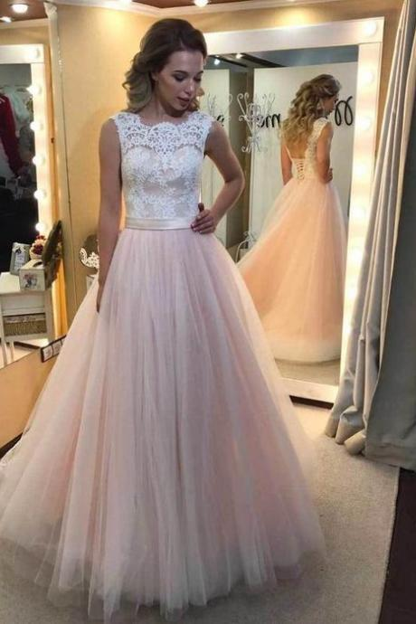 New Arrival Prom Dress,Sexy Backless Prom Dress,Lace Prom Dress,Elegant Prom Dresses, Long Tulle Prom Dress,Tulle Party Dress,Wedding Party Dress,Formal Evening Dress,