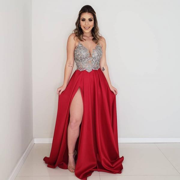 Sexy Backless Prom Dresses,Beading Prom Dresses,Long Prom Evening Dresses,Party Formal Dresses