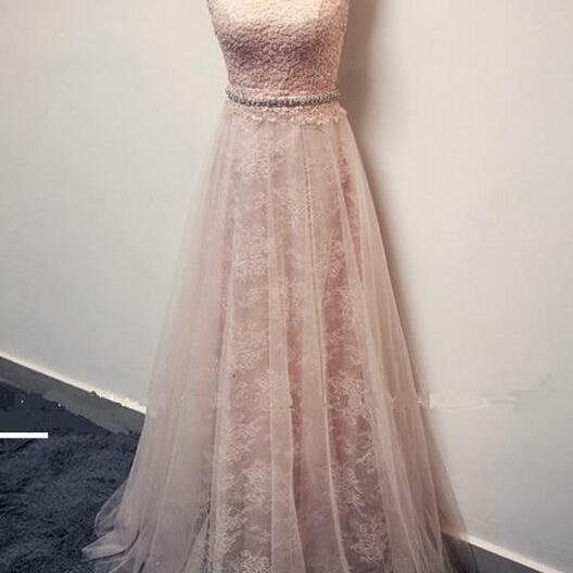 Hot Sale Prom Dress,Charming Prom Gowns,Lace Prom Dress ,Lace Graduation Dress, A-line Evening Dress,Brief Prom Dress,Backless Formal Dress,