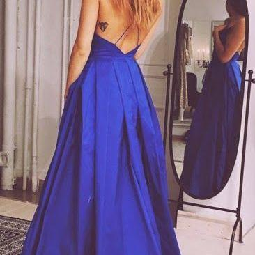 Sexy Strapless Backless Ball Gown Prom Dress,V neck Prom Dress, Royal Blue Prom Dress ,Women Dress,Sexy Party Dress For Teens ,Dress For Prom,Formal Dress 2016