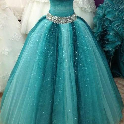 2016 Beading Ball Gown Prom Dress,Sweetheart Prom Dress, Ball Gown Quinceanera Dresses ,Women Dress,High Qualiyt Custom Made Dress For Prom,Formal Dress 2016