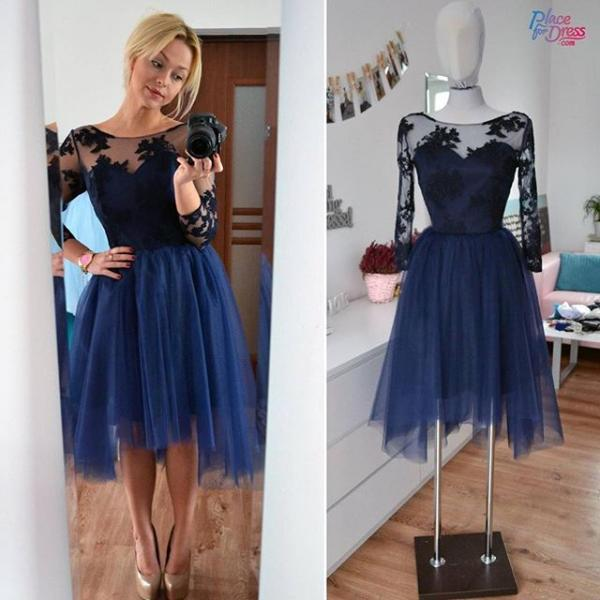 Charming Prom Dress,Tulle Homecoming Dress,Short Homecoming Dress,Lace Homecoming Dress,Short Prom Dress,Navy Blue Homecoming Gowns,Women Dress,Prom Dress