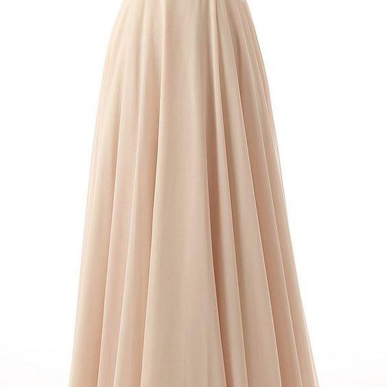 Cap Sleeve Scoop Neckline Prom Dress with Crystal Design Long Champage Tulle Ball Gown Formal Wear,High Quality Prom Dress,Formal Dress,Evening Dress 2016