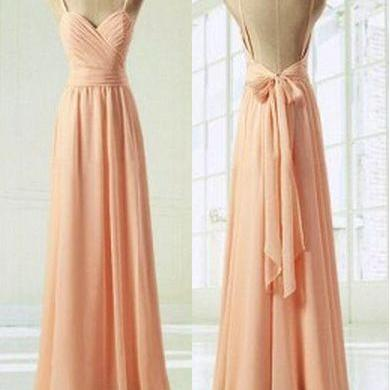 Sexy Straps Long Modest Gowns Dresses,Pink Simple Prom Dress,Chiffon Prom Dress,Sweetheart Prom Gowns,A-Line Prom Dress,Long Bridesmaids Dress,Bridesmaids Dress,