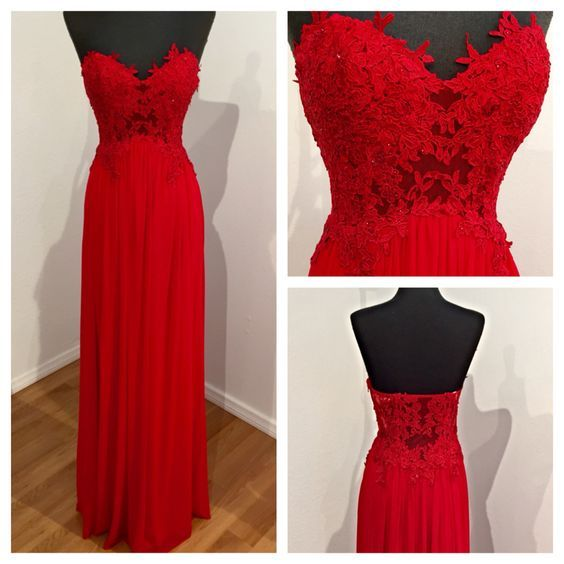 New Arrival Red Sweetheart Prom Dress,Long Prom Gonws,Chiffon Homecoming Evening Dress,Evening Dress 2016,Women Dress For Weddings,A line Bridalmaids Dress,Cheap Bridesmaids Dress,Formal Party Dress,