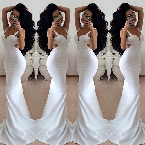 White Prom Dress,Backless Prom Dress,Long Prom Dress,Sexy Prom Dress,Evening Dress,Custom Made Prom Gowns,Formal Dress,